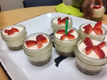 Mini cheesecakes for Jahci's birthday