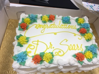 Congratulations, Dr. Sears!
