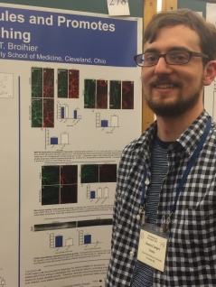 Jim by his poster at Neurobiology of Drosophila meeting at CSH