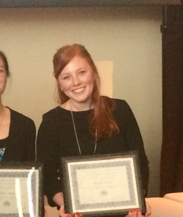 Kendall with her Graduate Student Appreciation award